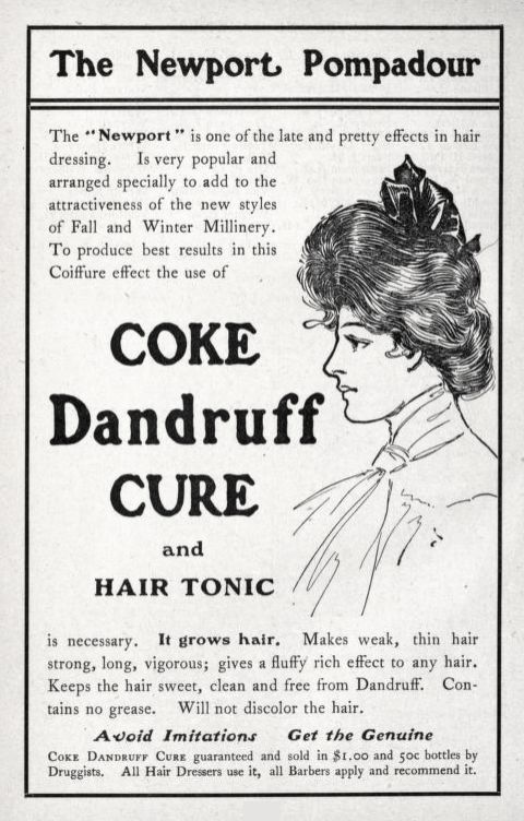 1903 Coke Shampoo advertisement