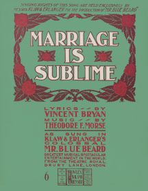 Marriage is Sublime Mr Bluebeard