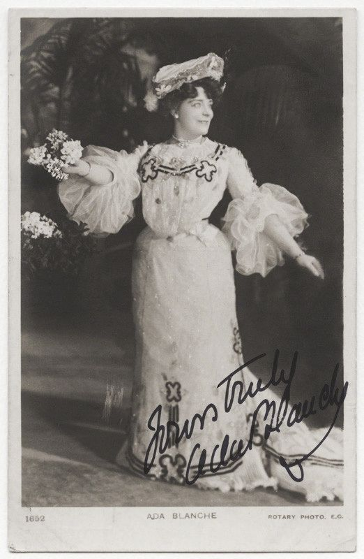 Actress and dancer Ada Adams performed at Iroquois Theater