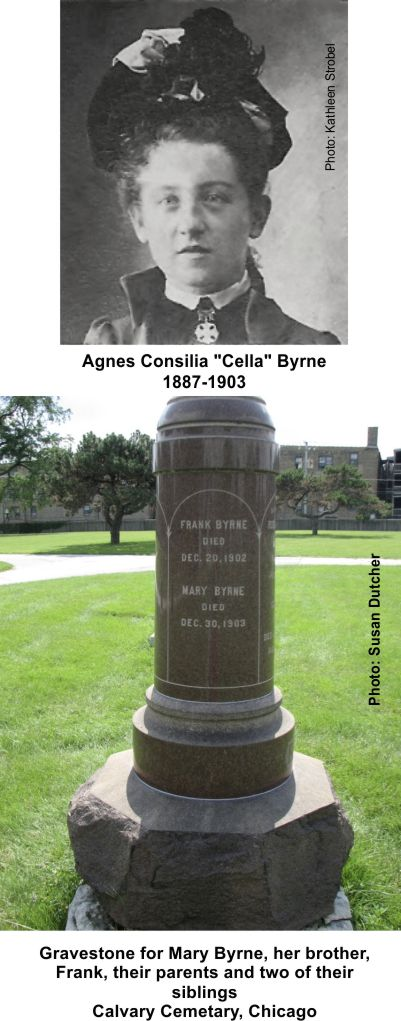 Cella and her aunt Mary Bryne died at the Iroquois Theater