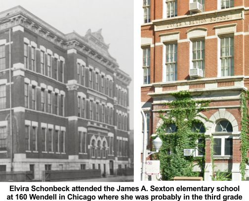 Elvira Schonbeck attended James Sexton elementary school in Chicago