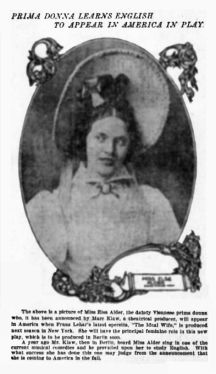 Harry Bissing's wife, light opera singer Else Alder