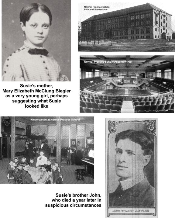 Chicago Normal School attended by Susie Beigler, Iroquois Theater victim