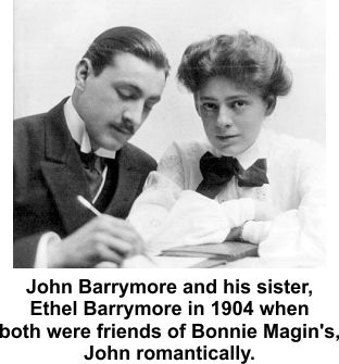 Bonnie's friends John and Ethel Barrymore