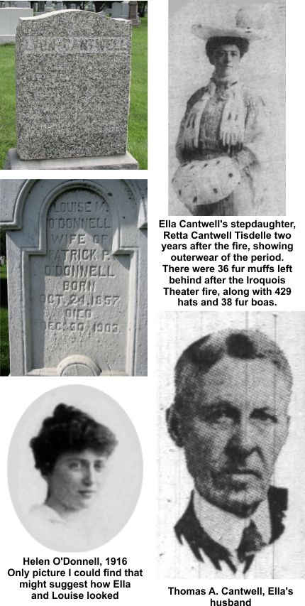 Sisters Ella Cantwell and Louise ODonnell died at the Iroquois Theater