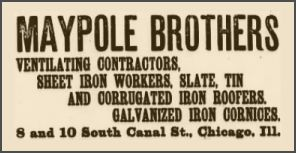 Maypole Brothers of Chicago manufactured cornices