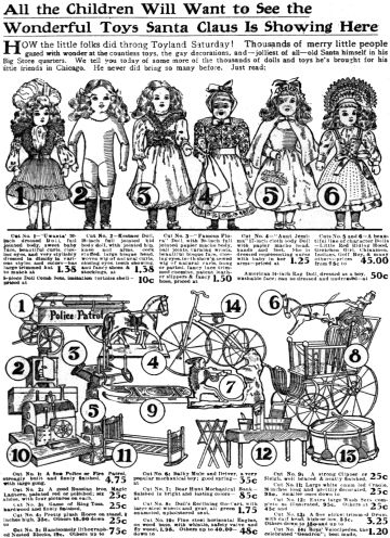 Christmas toys in 1903