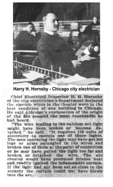 H. H. Hornsby Chicago chief electrical inspector Iroquois Theater