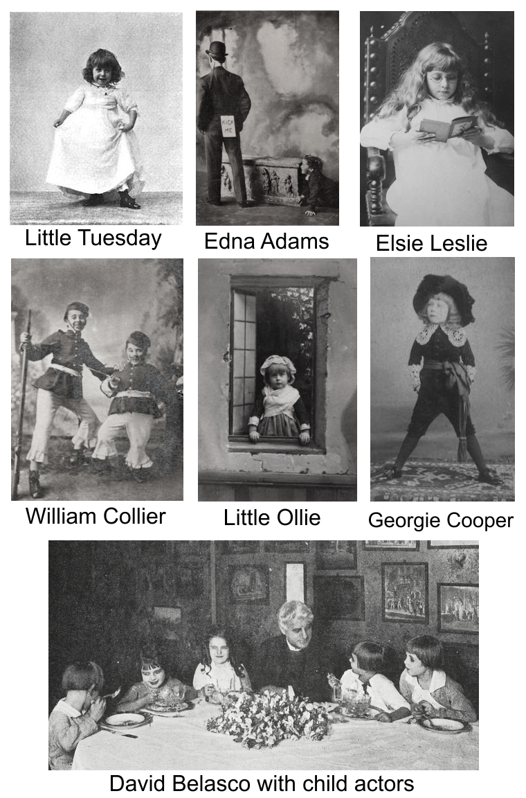 Child actors in 1903 theatrical industry