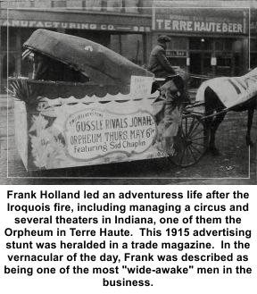 Frank Holland's mother Ida would have said that no grass grew beneath his feet