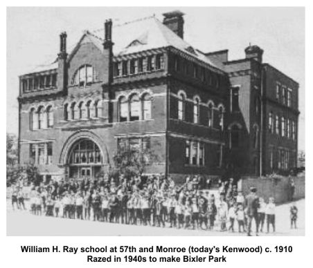 Chicago William H. Ray elementary school at 57th and Monroe c1903