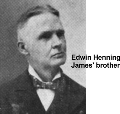 James' brother Edwin helped during the bad times