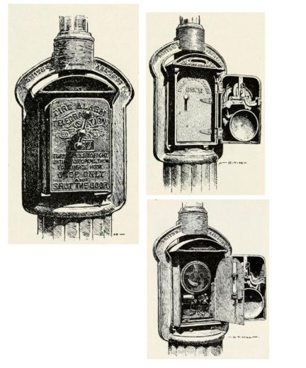 Fire alarm street boxes in 1903