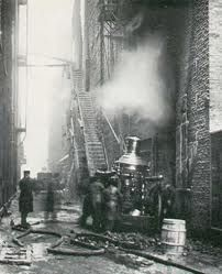 West end Couch alley in Chicago after Iroquois Theater fire