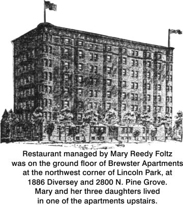 Brewster Apartments were home to Mary Foltz and her girls, as well as site of her restaurant.