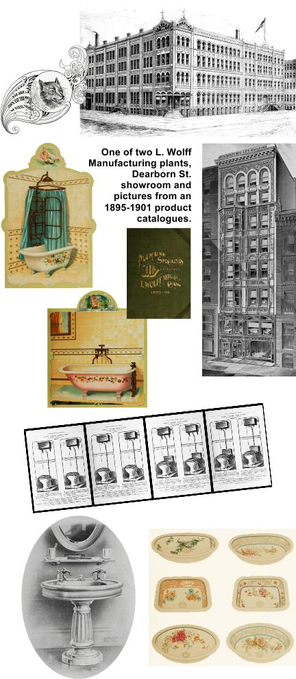 Ludwig Wolff Manufacturing of Chicago made plumbing fixtures