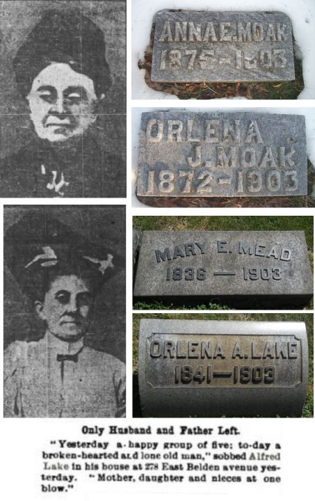 Mary E. Mead, Orlina Lake, Anna Moak and Lena Moak