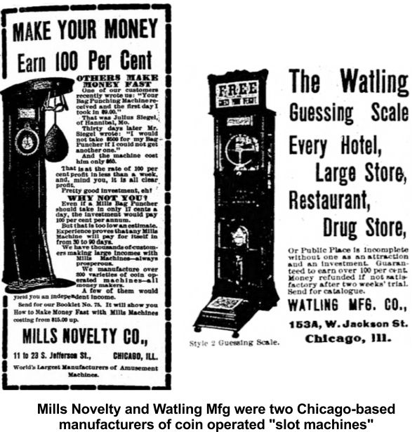 Slot machines in 1903 were not all about gambling.