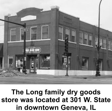 James Long and his father ran a dry goods store in Geneva