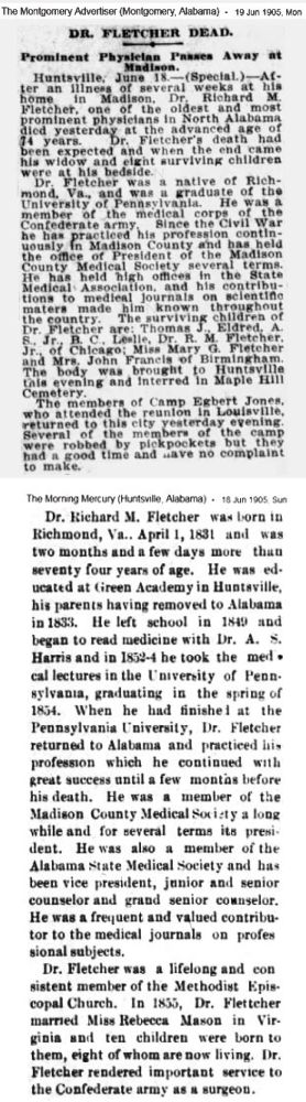 Richard M. Fletcher 1905 obituary