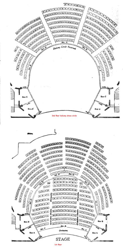 Powers Theater of Chicago layout