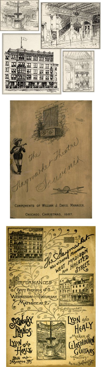 Haymarket theater in Chicago illustrations