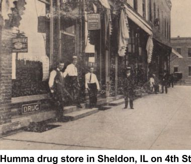 Humma drug store in Sheldon, Illinois
