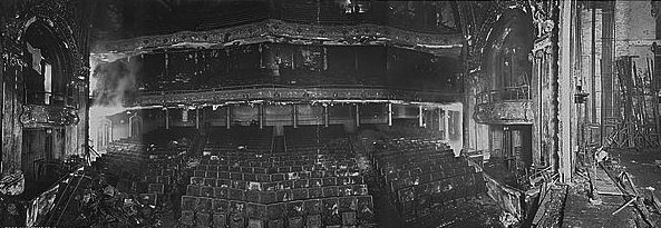 Iroquois Theater auditorium after fire in 1903