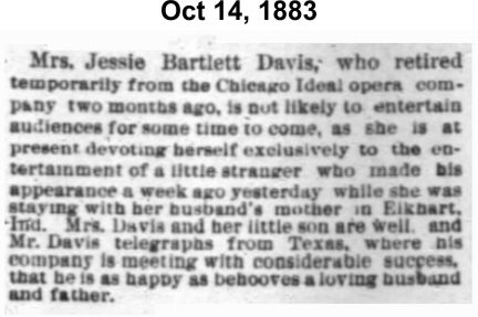 Jessie Bartlett Davis time out for sons birth