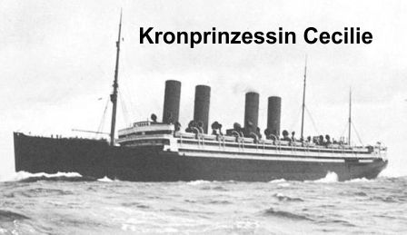 Shopping spree in Europe started on SS Kronprinzessin Cecilie