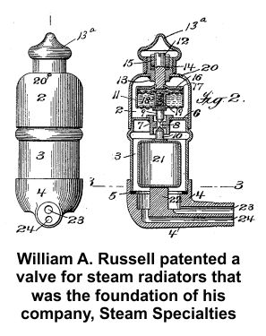 William A. Russell's steam valve