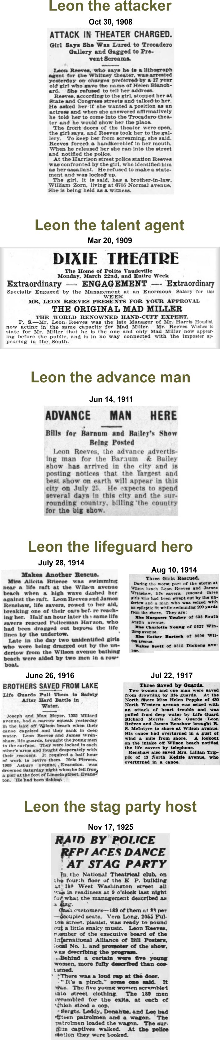 Leon Reeves, man of many stages