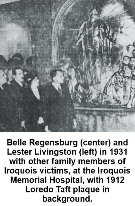 Belle and Samuel Regensburg involved in Iroquois Memorial Association