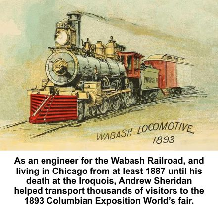 Andy Sheridan was engineer of the Wabash locomotive 824