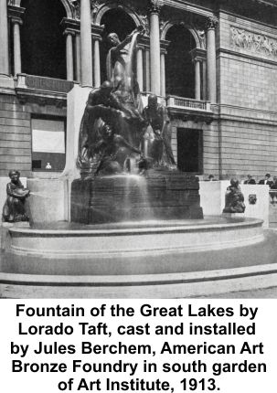 Taft and Berchem's Fountain of Great Lakes at Art Institute