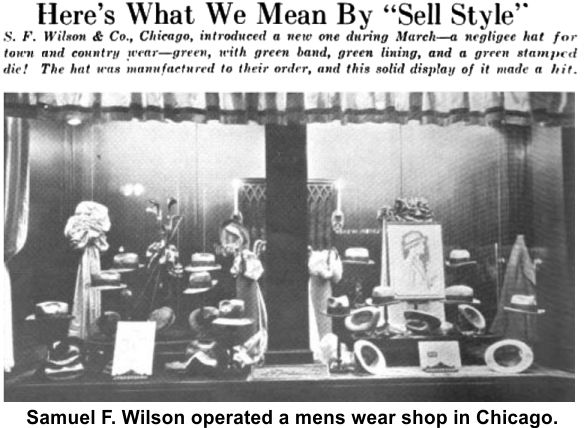 Frank Wilson operated a mens clothing store