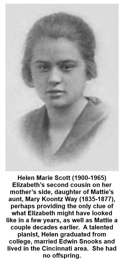Helen M. Scott might provide a clue as to Elizabeth's appearance