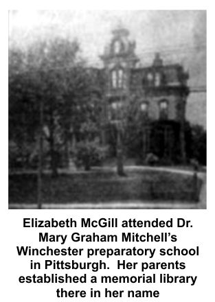 Elizabeth was a student at the Winchester preparatory school in Pittsburgh