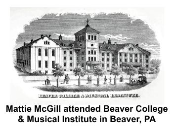 Martha R.K. Hogue McGill attended Beaver College in Beaver Pennsylvania