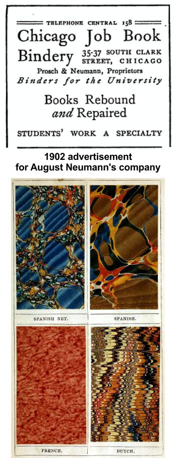 August Neumann was a bookbinder