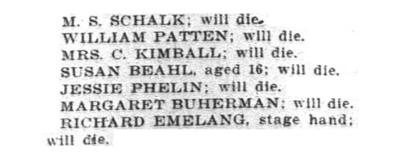 1903 newspapers reported anticipated deaths