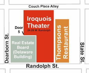 Iroquois Theater map