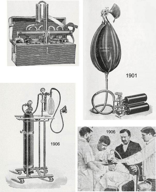Oxygen tanks in 1903