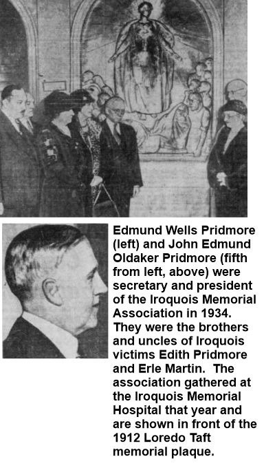 Pridmore brothers officers in Iroquois Memorial Association