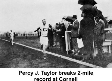 Percy J. Taylor breaks track record in 1909