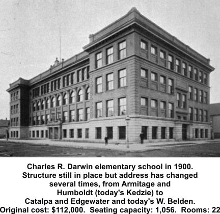Charles R. Darwin Elementary School in Chicago in 1900