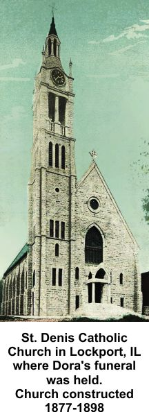 St. Denis Church in Lockport where Dora's funeral was held