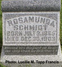 Rosamond's parents were from west central Ohio