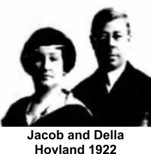 Della and Jacob Hovland in 1922