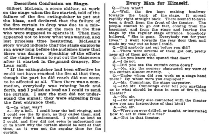 McLean testimony at Iroquois inquest